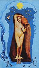 Salvador DALI - Zeichnung Aquarell - The Star