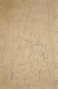 Fernand LÉGER - Disegno Acquarello - Dessin du front