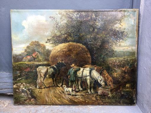 George RIECKE - Gemälde - Escena campestre