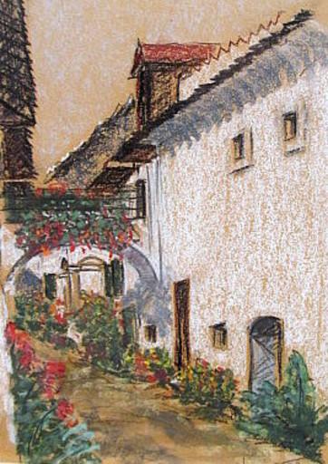 Walter BRÜGGMANN - Drawing-Watercolor - Aus Mörbisch am See ( Austria )