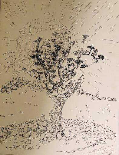 """Luciano DIAZ CASTILLA - Drawing-Watercolor - """"Arbol"""""""