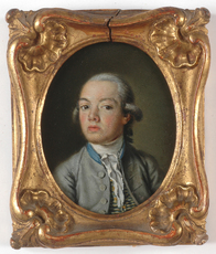 "Nicolas Bernard LÉPICIÉ (Attrib.) - Miniature - ""Portrait of a Boy"", oil on copper miniature,"