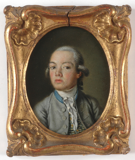 "Nicolas Bernard LÉPICIÉ (Attrib.) - Miniatura - ""Portrait of a Boy"", oil on copper miniature,"