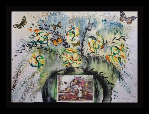 Salvador DALI - Grabado - Currier & Ives Les Fleurs et Fruite