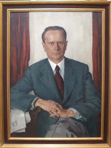 """Robert STREIT - Peinture - """"Portrait of Mr. V. P."""" by Robert Streit, Oil Painting"""