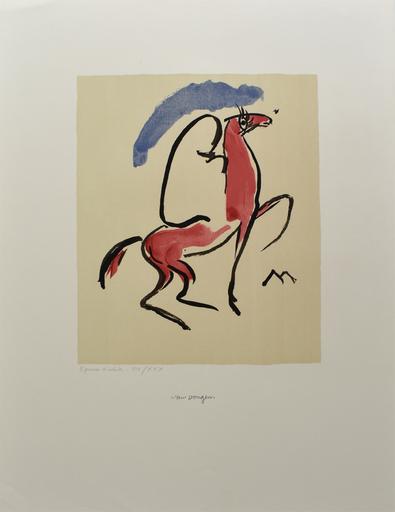 Kees VAN DONGEN - Estampe-Multiple -  Arabian Horseman   Cavalier Arabe