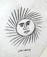 Alexandre FASSIANOS - Dibujo Acuarela - Soleil
