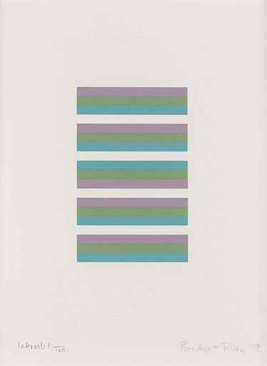 Bridget RILEY - Print-Multiple - Intervals 1