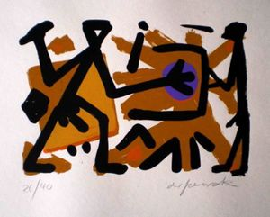 A.R. PENCK - Estampe-Multiple - Untitled 4