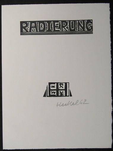 埃里希·黑克尔 - 版画 - Signet  Radierung