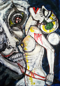 Vesna KRSMANOVIC - Painting - Moonlight    (Cat N° 4973)