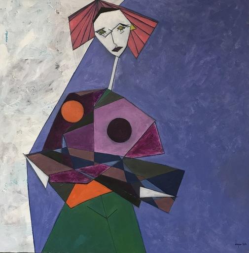 Abraham DAYAN - Peinture - La Parisienne