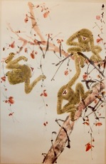 CHEN Wenxi - Painting - Three Monkeys
