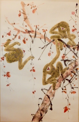 CHEN Wenxi - Peinture - Three Monkeys