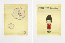Yoshitomo NARA - Stampa Multiplo - Over the Rainbow / Set of 2