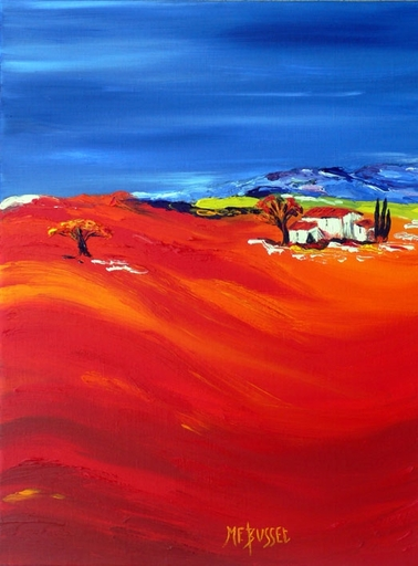 Marie-France BUSSET - Peinture - L'ARBRE ORANGE