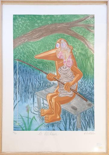 荷尔维·迪罗萨 - 版画 - Le pêcheur