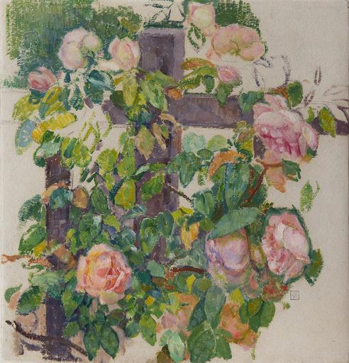 Théo VAN RYSSELBERGHE - Painting - Roses grimpantes