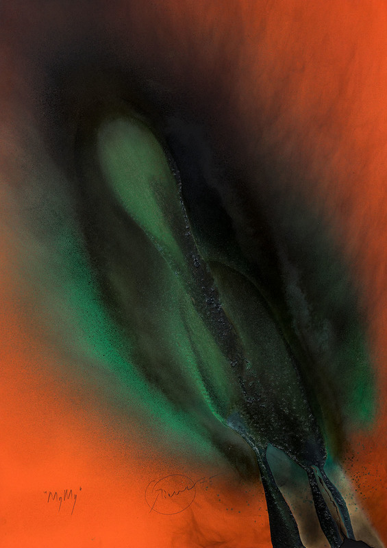 Otto PIENE - Drawing-Watercolor - MyMy