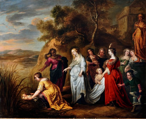 Abraham WILLEMSENS - Painting - The Finding of Moses
