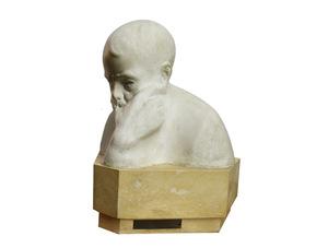 Francesco CIUSA - Sculpture-Volume - Bust of Sebastiano Satta