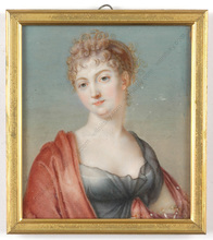 "Jean-Baptiste AUGUSTIN (Attrib.) - Miniatura - ""Young beauty"", important miniature!!, ca.1805"