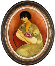 Moïse KISLING - Pintura - Portrait de Madame André Salmon