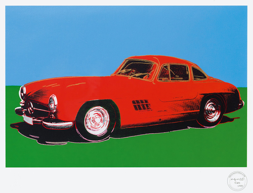 Andy WARHOL - Stampa Multiplo - Mercedes 300 SL Gullwing