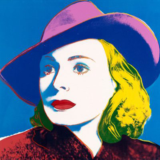 Andy WARHOL - Print-Multiple - Bergman with Hat