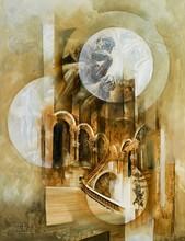 Roger SURAUD - Peinture - L'ESCALIER DE L'OPERA