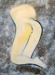 Paolo AMBROSIO - Peinture - L'origine du monde vue de dos