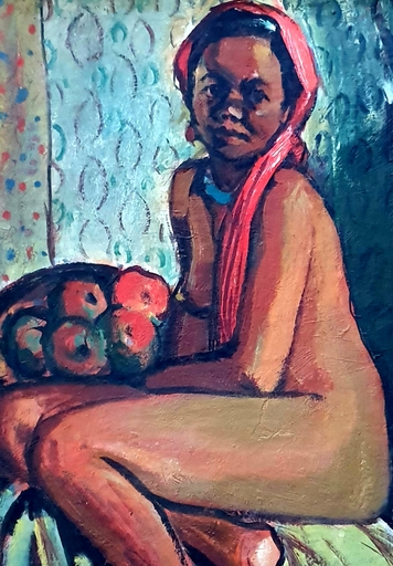 Seweryn SZRAJER - Gemälde - Beautiful African Girl
