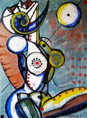 Vesna KRSMANOVIC - Pintura - Energy Flux    (Cat N° 5303)