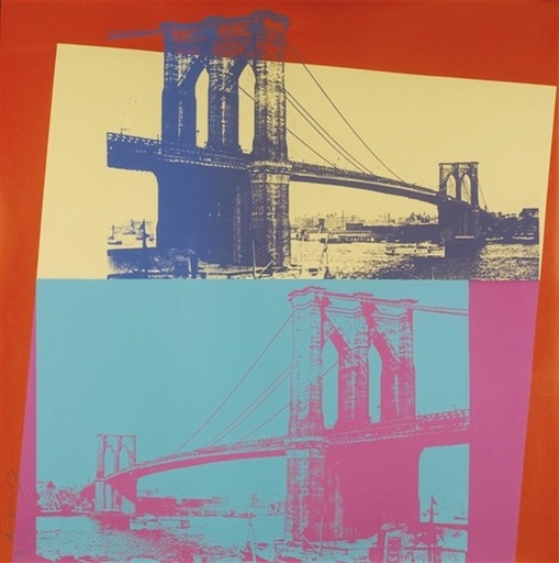 Andy WARHOL - Stampa-Multiplo - Brooklyn Bridge (FS II.290)