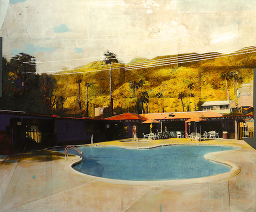 Ayline OLUKMAN - Pittura - Art Deco Poolside