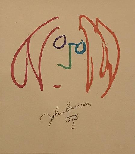 John LENNON - Zeichnung Aquarell - Face sketch