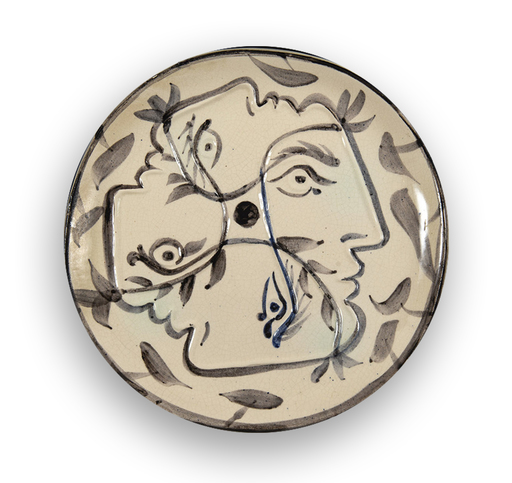 Pablo PICASSO - Ceramiche - Quatre profils enlacés
