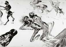 Miquel BARCELO - Print-Multiple - Lanzarote 28 Serie Pornografica II