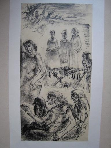 Paul LEMAGNY - Zeichnung Aquarell - SANS TITRE
