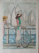 让-皮埃尔•卡西尼尔 - 版画 - LA BICYCLETTE 1979