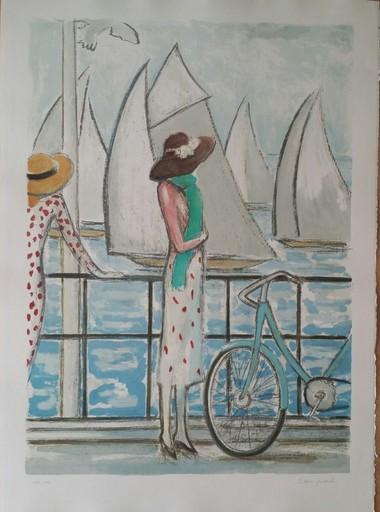 Jean-Pierre CASSIGNEUL - Estampe-Multiple - LA BICYCLETTE 1979