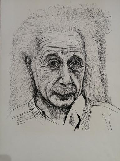 Marcel Charles DESBAN - Dibujo Acuarela - Albert EINSTEIN