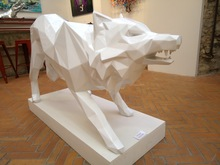 Richard ORLINSKI - Escultura - ATTACKING WOLF
