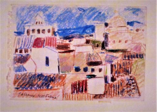 Enrico PAULUCCI - Zeichnung Aquarell - Hotel Palme – Palermo