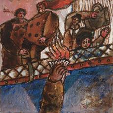 Théo TOBIASSE - Pintura - L'Exil Et La Liberte