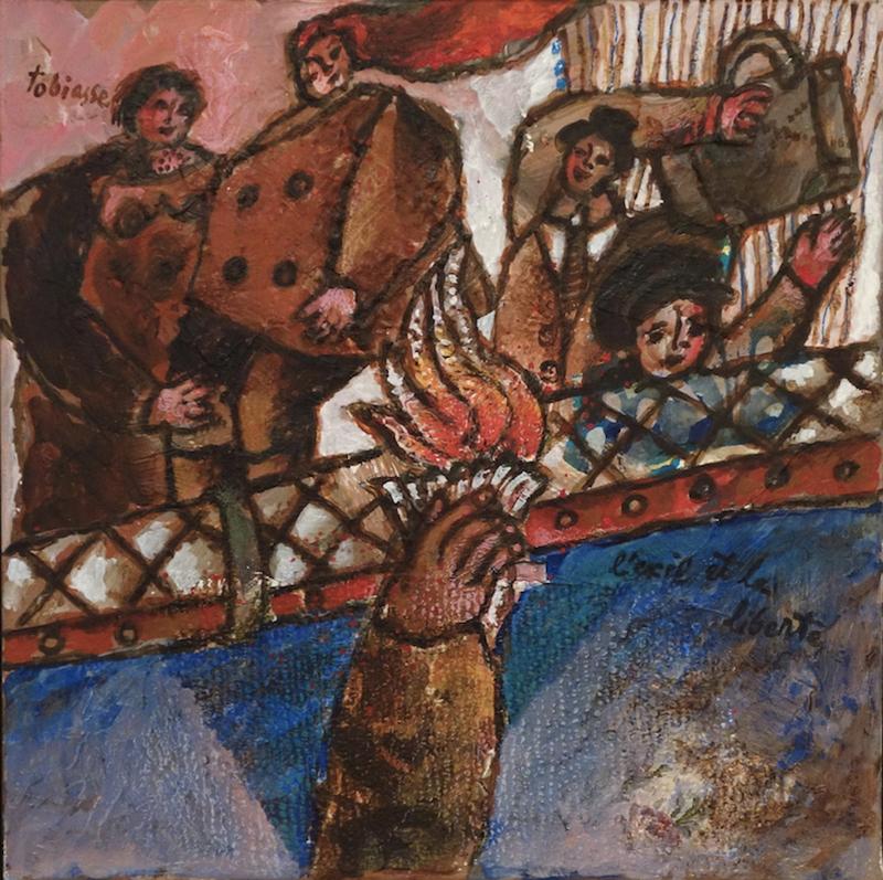 Théo TOBIASSE - Painting - L'Exil Et La Liberte