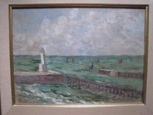 Maximilien LUCE - Peinture - LE TREPORT LA SORTIE DU PORT