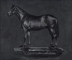 STEFAN À WENGEN - Peinture - Detected Dictionary (Horse)