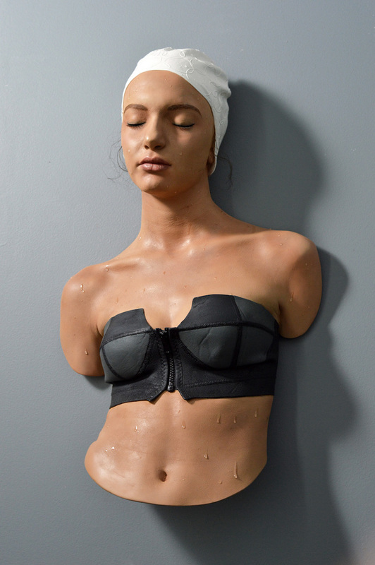 Carole FEUERMAN - Sculpture-Volume - Yasemin with black suit and white cap