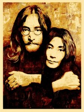 Shepard FAIREY - Estampe-Multiple - John LENNON & Yoko ONO